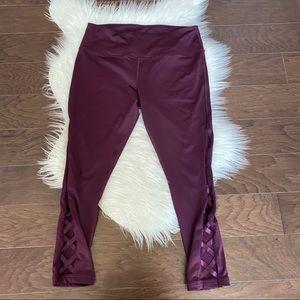 [Zella] Burgundy Purple Criss Cross Leggings